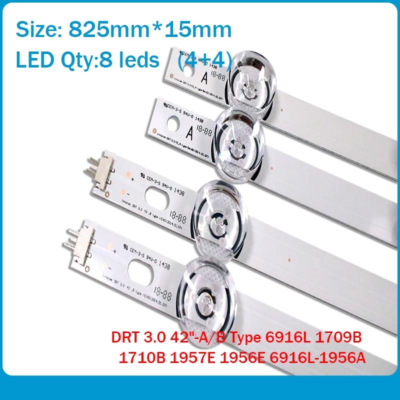 "8 PCS(4*A,4*B) LED strips substituted new for LG INNOTEK DRT 3.0 42""-A/B Type 6916L 1709B 1710B 1957E 1956E 6916L-1956A"