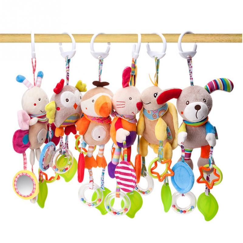 Sonajero móvil para bebé juguetes suaves para bebé 0-12 meses toalla cama campana bonito juguete de Animal para cuna cochecito para Recién Nacido juguete Montessori