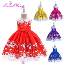 New Year Baby Girl Christmas Dress Girl's Merry Christmas Dress Children Kids Princess Dress Girls Tutu Santa Clus Costume