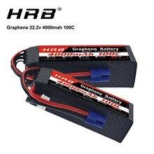 HRB graphène batterie 6S 22.2V 4000mah 100C XT90 connecteur Lipo batterie pour lutin 570 aligner trex 450L 550 hélicoptère RC voiture bateau