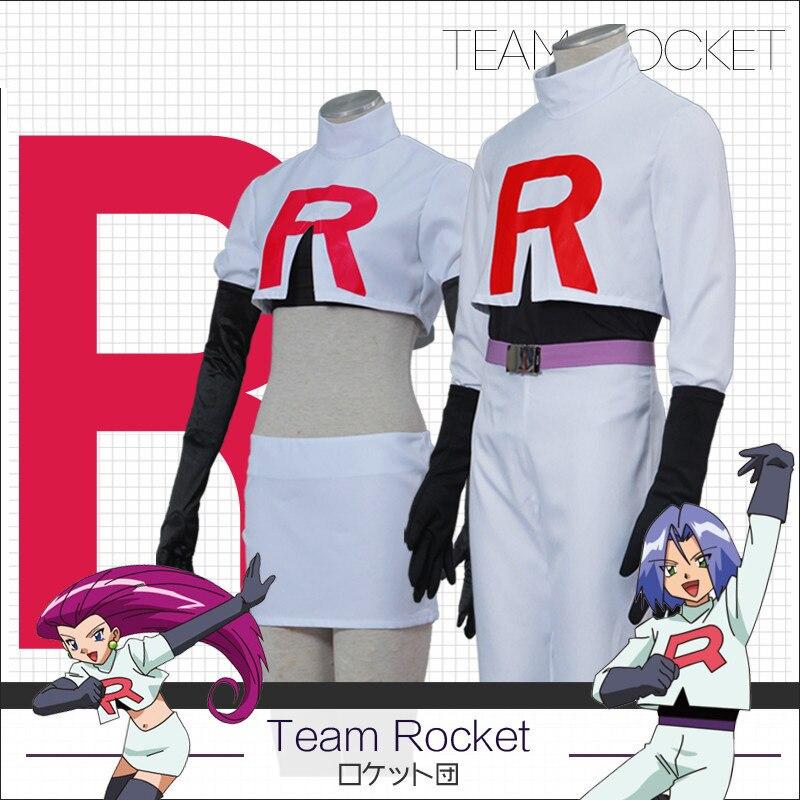 ¡Equipo de Rocket sheshi Musashi James Kojirou cosplay traje juego completo Anime Pokemon Go!