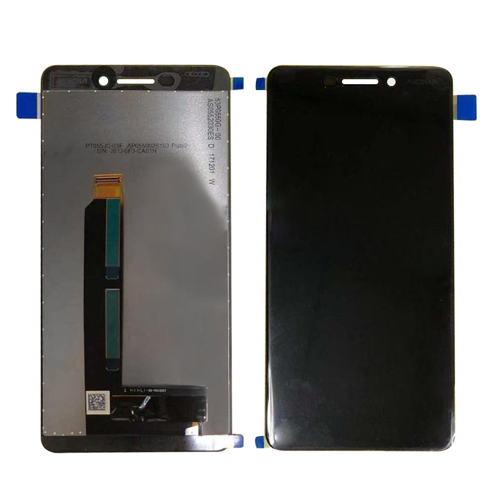 Para nokia 6 2018 nokia 6.1 lcd ta-1043 ta-1045 ta-1050 ta-1054 ta-1068 display touch screen digitador assembléia + ferramentas