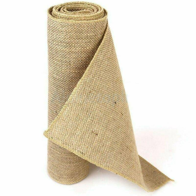 10M X 30CM arpillera corredores de la tabla de arpillera rollo de tela de arpillera de yute rústico boda yute tela mantel de la tabla de arpillera bandera