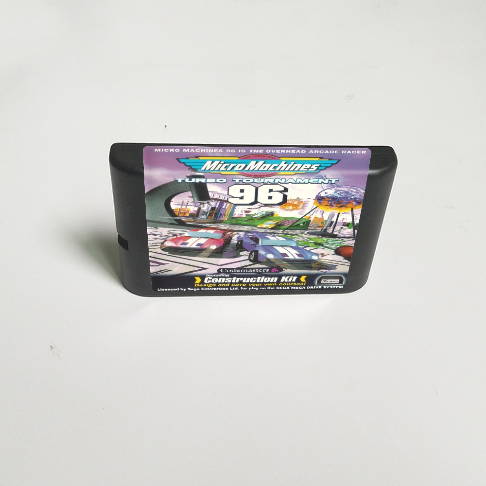Micromáquinas Turob Tournament, Cartucho de tarjeta de juego MD de 96 -...