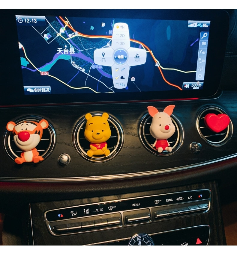 2020 New Piggy-shaped Car Aromatherapy With Cute Winnie The Pooh Tigger Vent Decorations Do Not Include Perfume