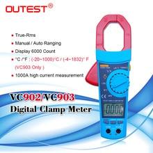 Gamme automatique de pince de mètre numérique ca/cc de la tension cc ca/cc la tension ca c. C. Résistance de courant cycle de résistance 1% ~ 99% 1200A