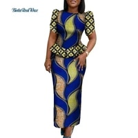 2021 summer new fashion top and skirt 2pcs set for sexy lady african priting dashiki traditional african women clothing wy095