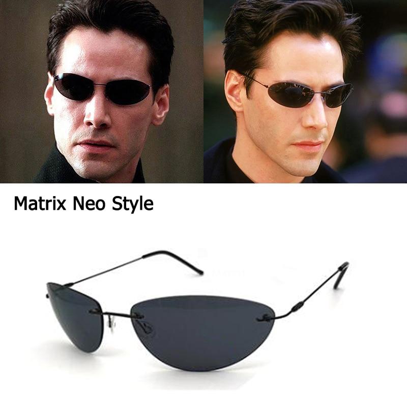 Солнечные очки Мужские поляризационные без оправы, модные ультралегкие солнечные аксессуары в стиле Matrix Smith, дизайнерские очки для вождени...