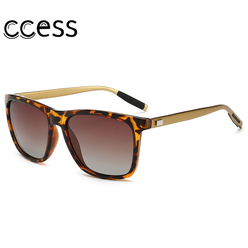 Vintage Sports Style Polarized Sunglasses Men Black Driving Square Sunglass Shades for Women Luxury