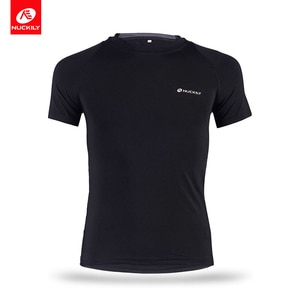 NUCKILY Men's Jersey Sportswear Cycling Running T-Shirts Quick Dry Compression Sport T-Shirts Fitness Running Soccer Top Shirts