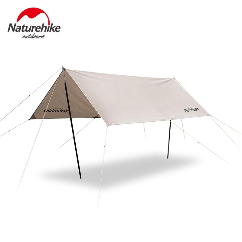 Naturehike exterior Ultra ligero Camping algodón dosel de tela 5-8 persona cuadrado sombrilla familia impermeable carpa portátil