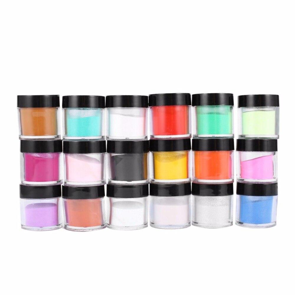 HOT 18 Color Nail art acrylic powder Decorate Manicure Powder Acrylic UV Gel Nail Polish Kit Nail Art Set Selling Best Selling
