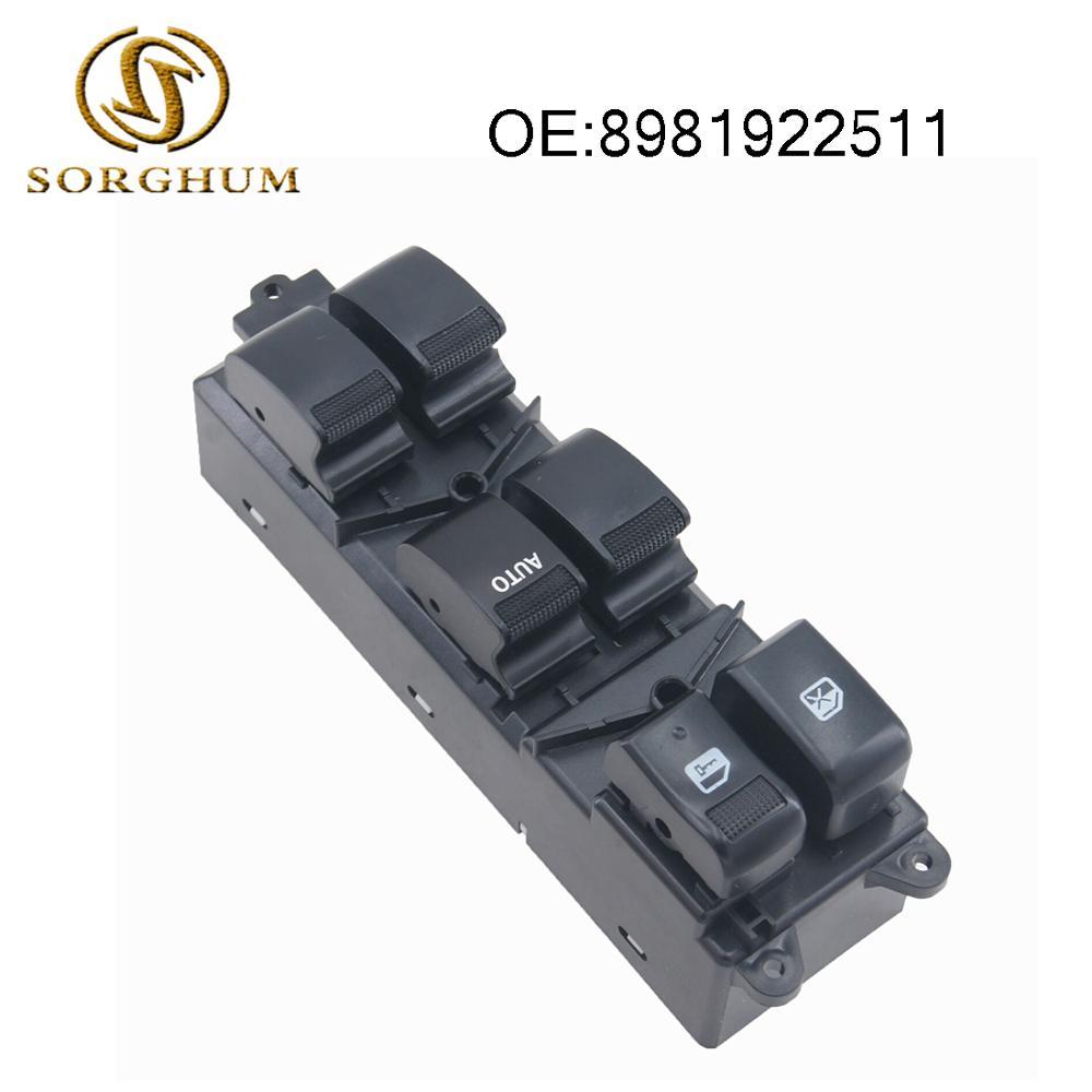 Электрический стеклоподъемник главный переключатель 8981922511 для Isuzu D-Max Dmax 2012 звукоснимателя