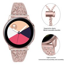 Diamant Strap Für Samsung Galaxy Uhr Aktive 2 40mm Active2 44mm Edelstahl Band Strap Milanese Schleife Armband armband