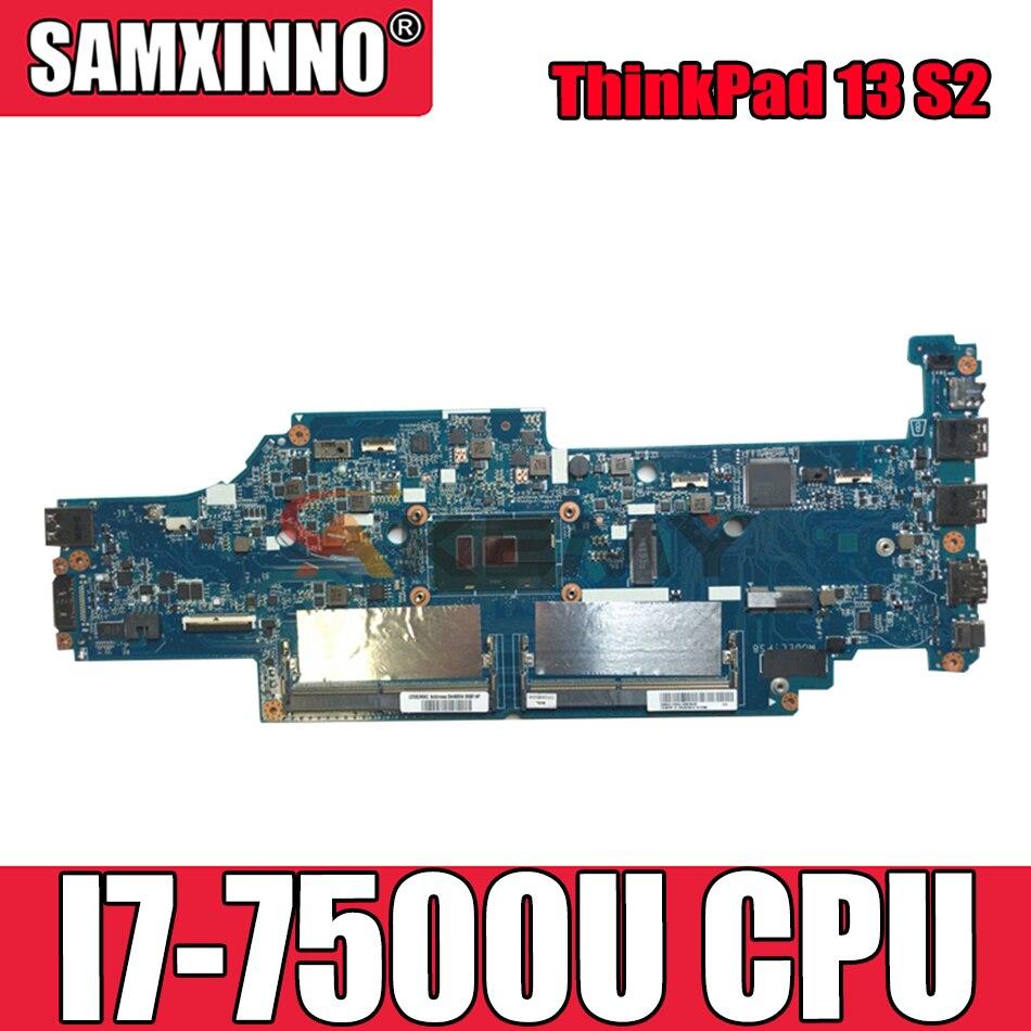 Akemy DA0PS8MB8G0 DA0PS9MB8E0 لينوفو ثينك باد 13 S2 دفتر اللوحة CPU I7 7500U DDR4 100% اختبار العمل