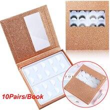10 쌍 속눈썹 보관 책 포장 상자 속눈썹 샘플 카탈로그 디스플레이 카드 화장품 용기 메이크업 디스플레이