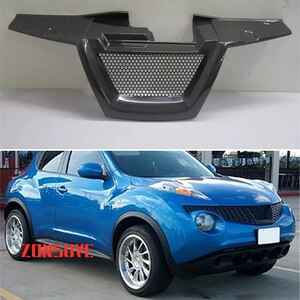 Use For Nissan Juke 2011--2014 Year Carbon Fibre Refitt Front Center Racing Grille Cover Accessorie Body Kit Zonsuve