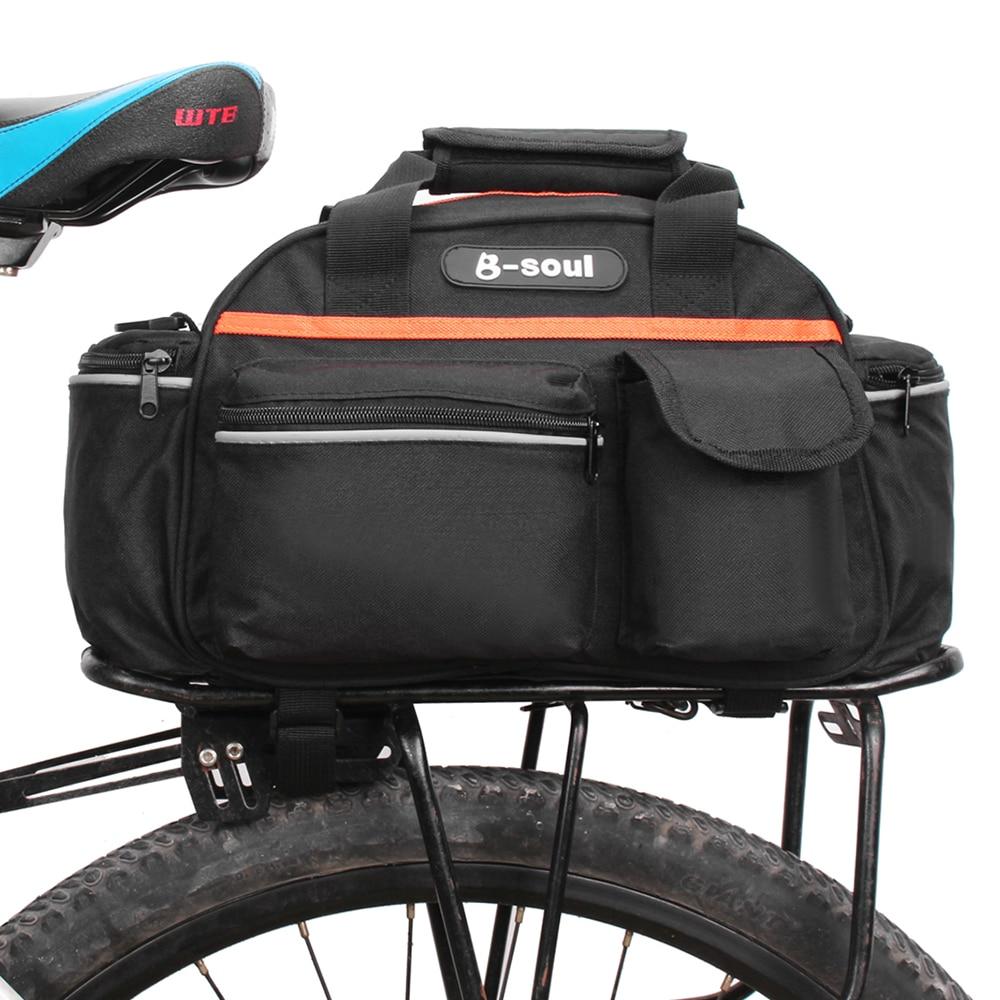 Bolsa de asiento trasero para bicicleta B-SOUL 15L, cesta para maletero, bolsa para equipaje de ciclismo, estuche de almacenamiento, bolso de hombro
