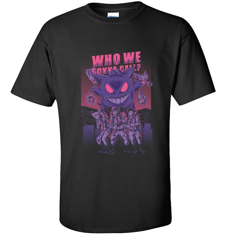 Camiseta divertida de Ghostbusters Gengar Monster Ghost Kaiju Hallowmas, Camiseta japonesa de Pokemon Zombie, Camiseta de chico Harajuku