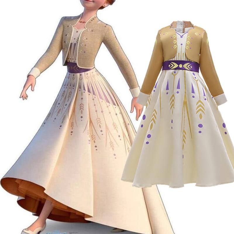 Vestido de reina de la nieve para niña, Disfraz de Elsa 2,...