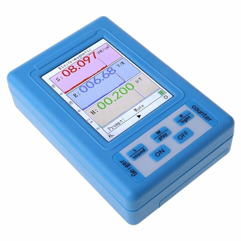 BR-9A المحمولة كاشف الإشعاع الكهرومغناطيسي المهنية الإشعاع الجرعات Emf متر الكشف عن المجال المغناطيسي الكهربائية