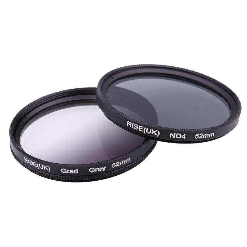 Câmera Filtro 49mm Completa Cinza Gradual Cinza Filtro de Lente para Nikon D3100 D3200 D5100 SLR Lente Da Câmera
