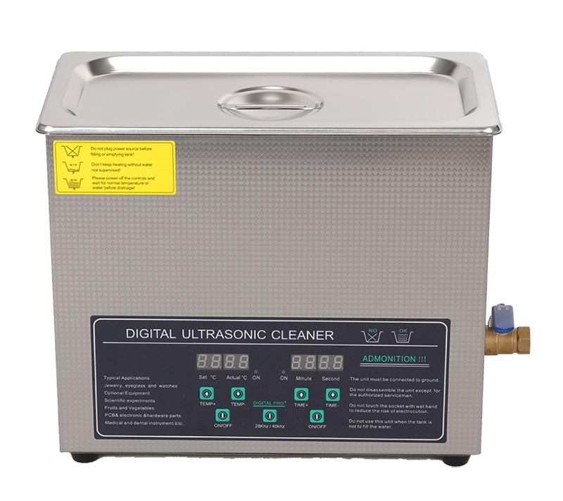 110V/220V Dual frequency 40KHz/28KHZ 180W JPS-30AD Digital heater&timer Ultrasonic Cleaner 6L