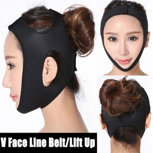 Black Double Chin Face Bandage Slim Lift Up Anti Wrinkle Mask Strap Band V Face Line Belt Women Slimming Thin Facial Beauty Tool