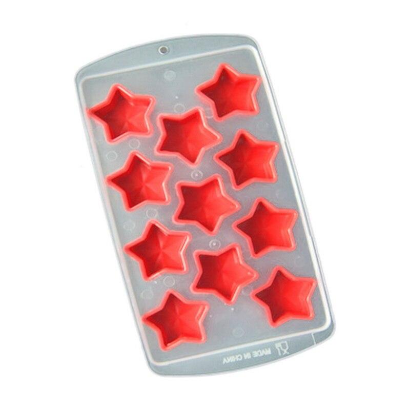 37 Red de silicona bandeja de molde para Chocolate estrella creativa/corazón/redondo/forma cuadrada cubo de hielo molde decorativo para pasteles #1