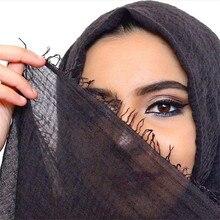 wholesale price 70*175cm women muslim crinkle hijab scarf soft cotton headscarf islamic head wraps h