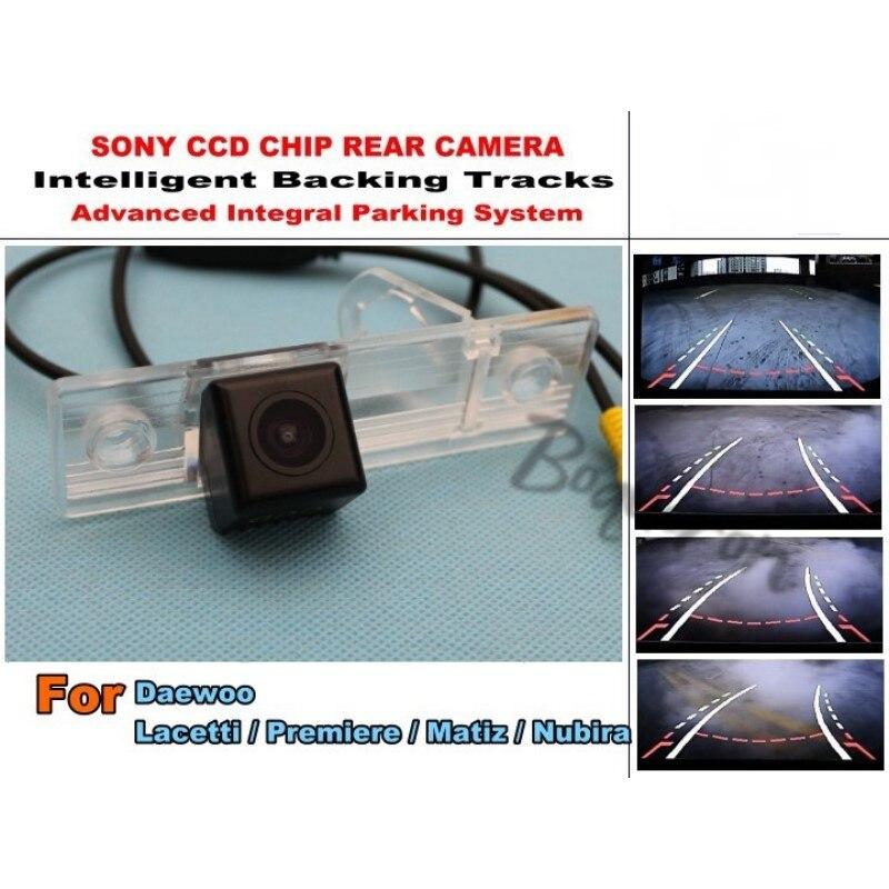 Para daewou Lacetti/Premiere/Matiz/Nubira Smart Tracks Chip cámara HD CCD inteligente dinámico aparcamiento coche trasero cámara de vista