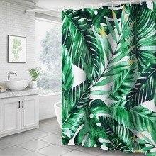 3D Druck Wasserdicht Nibesser Pflanzen Dusche Vorhang Wasserdichte Vorhang Waschbar Stoff Dusche Vorhang Bad 180x180cm