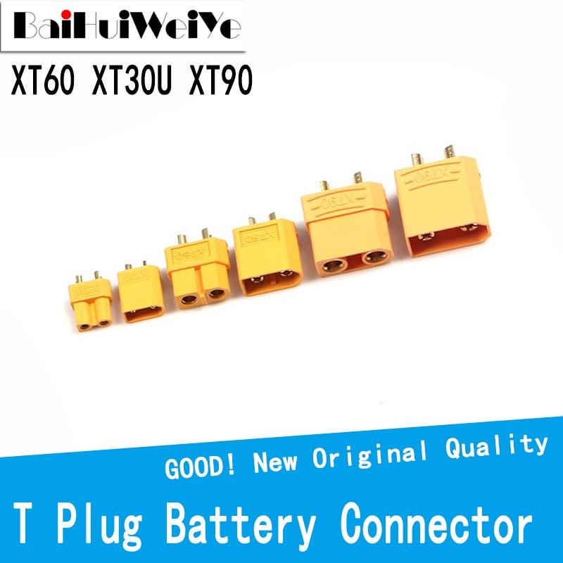10PCS XT60 XT30U XT90 T Plug Battery Connector Set Male Female Gold Plated Banana Plug for RC Parts  XT-60 XT-30U XT-90 qx aluminium alloy multifunctional soldering station xt60 xt90 t banana plug