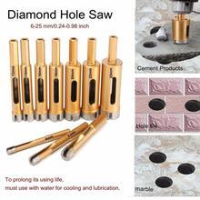 1PC or diamant foret trou scie tuile verre marbre verre trou Cutter foret 6/8/10/12/14/16/18/20/22/25mm