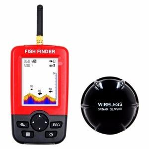 Hot Sale Alarm 100M Portable Sonar LCD Wireless Fish Finder Fishing lure Echo Sounder Fishing Finder fishfinder