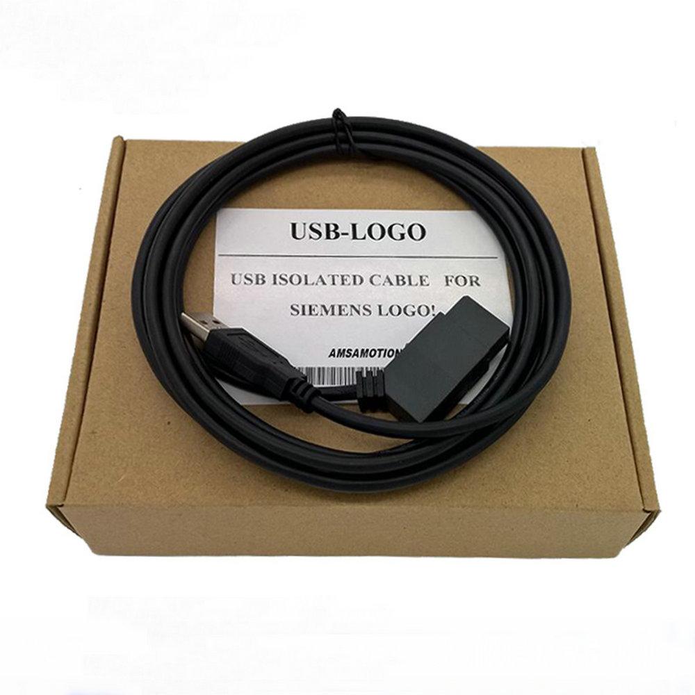 Cable aislado USB, cable de programación de PLC para LOGO Siemens (6ED1057-1AA01-0BA0)