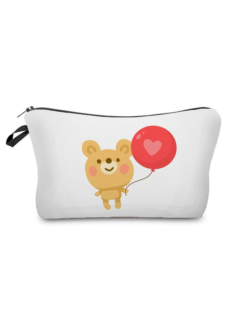 Lovely Printed Cartoon Cosmetics Organizer Bag Portable Storage Bags for Women Daily Use Women's Makeup Bag Small Pencil cases