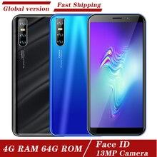 Android 5.1 téléphones mobiles Global 5MP + 13MP HD caméra téléphone M11 Face ID débloqué celulars quad core 3G 4G RAM 64G ROM smartphones