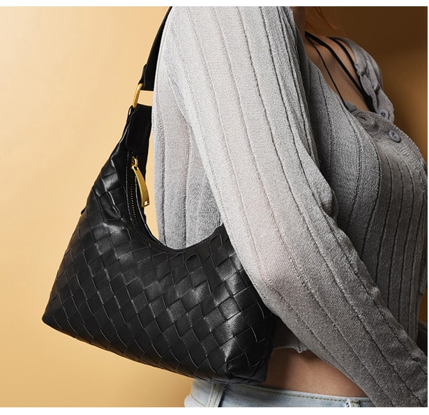 Sheepskin shoulder Bags weave Ladies hobos bags Sheepskin on both sides including lining