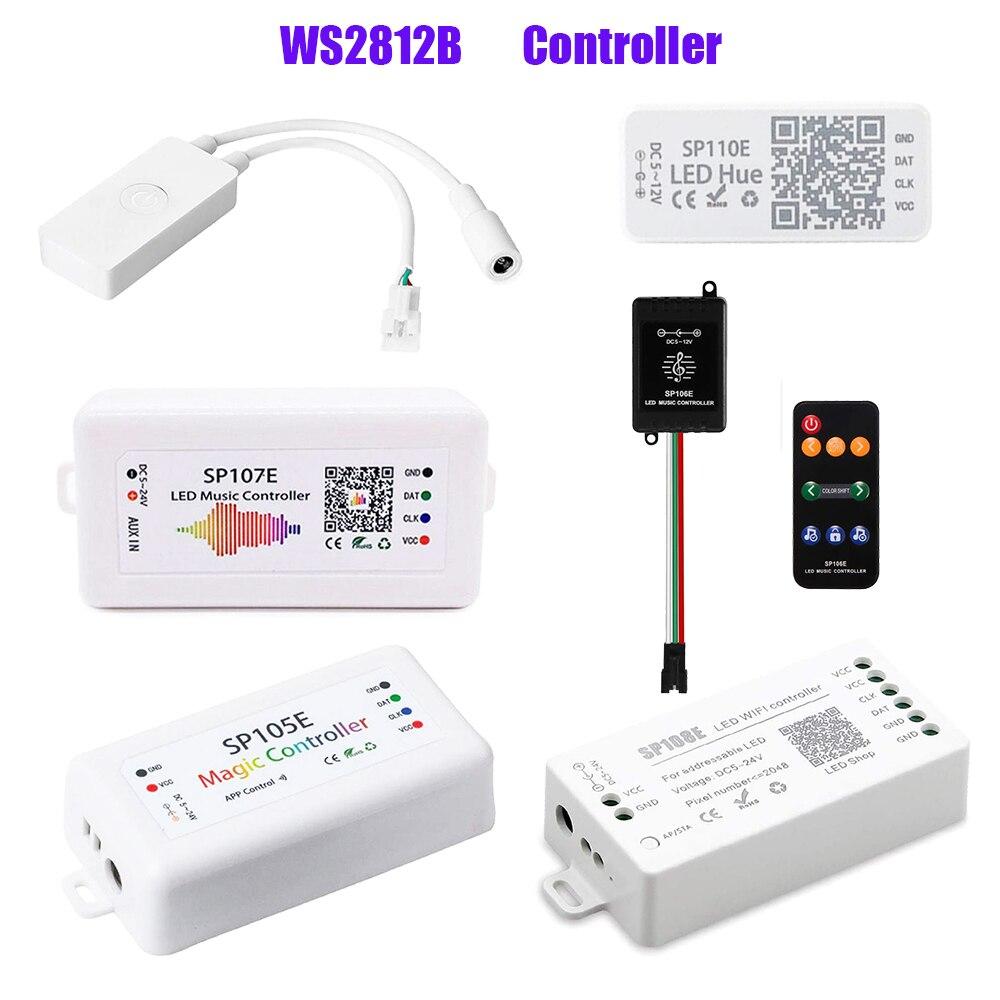 WS2812B Led Streifen Controller;Bluetooth SP105E SP110E;Wifi SP108E SP501E; Musik SP107E SP601E WS2811 SK6812 Licht DC5V-24V
