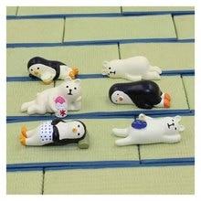 Japan Style Cute Penguin Bear Lying Animal Resin Home Desk Hoom Decor Accessories Modern Miniature Figurines Adornos Para Casa