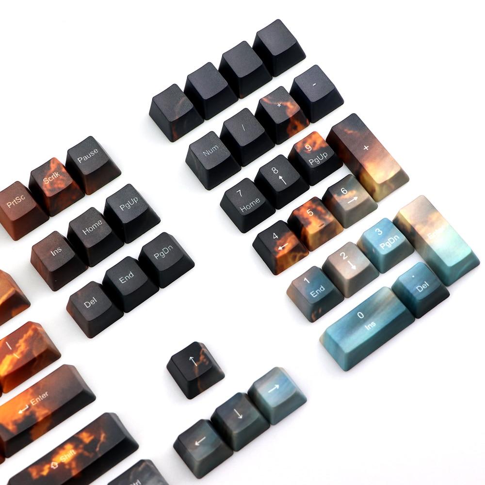 pbt Five side dye Subbed Keycap OEM Set Mechanische Toetsenbord keycaps Fit Filco ikbc TKL Keycaps 110 Keys Cherry3000 Key cap
