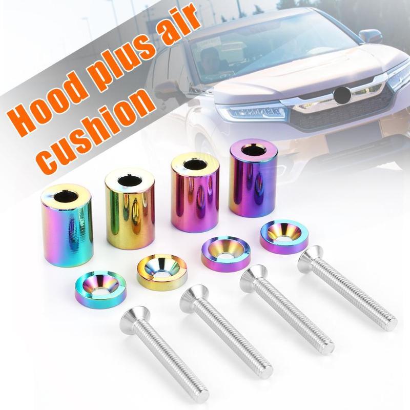 M6x45 Billet aluminio JDM Racing Anodic oxidación superficie tratamiento tecnología coche capó espaciadores de ventilación Universal