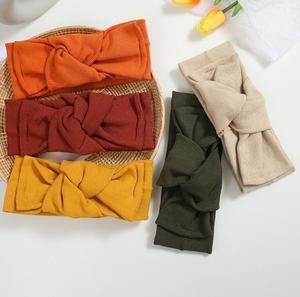 New headband Korean knitted face wash headband yoga cross-knotted fabric headband hair accessories