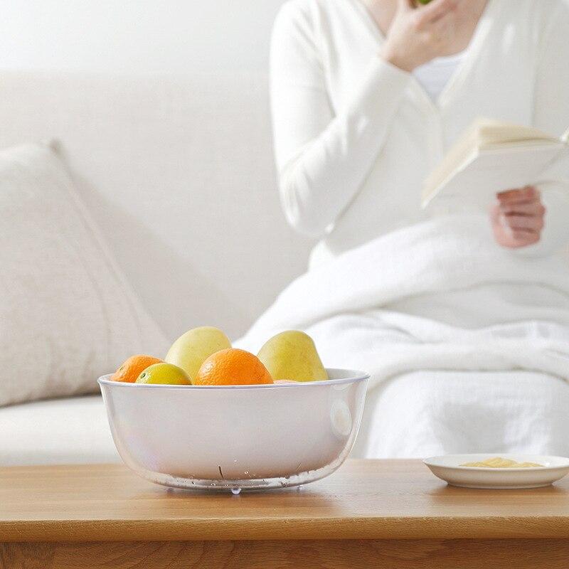 المنزلية مزدوجة طبقة سلة غسيل استنزاف سلة بلاستيكية سميكة سلة غسيل سلة فاكهة بالوعة المطبخ تصفية المياه سلة