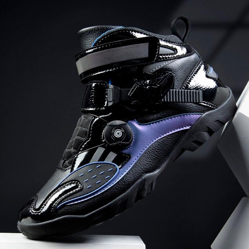 Высококачественная велосипедная обувь для верховой езды, мотоциклетная обувь, Мужская Уличная обувь с высоким верхом и противоскользящей ...