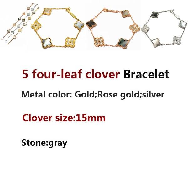 5 fleur bracelet personnalité mode romantique style gris trèfle à quatre feuilles trèfle bijoux cadeaux pour les amis 2020 nouveau chaud