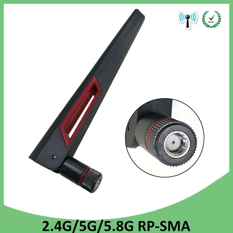 2.4GHz 5GHz 5.8Ghz Antenna real 8dBi RP-SMA Connector Dual Band wifi Antena aerial SMA female wireless router 2.4 ghz 5.8 ghz