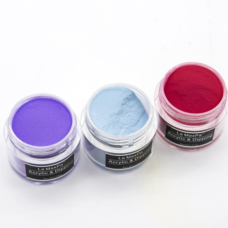 LaMaxPa brillo acrílico polvo inmersión 40 gramos 3D consejos decoración profesional sistema acrílico uñas en polvo decoración de uñas