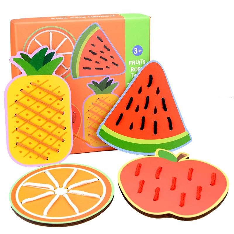 Доска для нарезки животных и фруктов, детские товары для дошкольного возраста по методу Монтессори, товары для раннего обучения, деревянная...